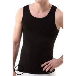 Męska bezszwowa podkoszulka na ramiączkach GINO ECO Bamboo. Szare podkoszulki męskie marki Astratex, m, z nadrukiem, z bawełny, na ramiączkach. Za 69,99 zł.
