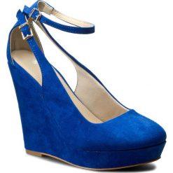 Półbuty JENNY FAIRY - W16SS382 Niebieski. Niebieskie półbuty damskie na koturnie Jenny Fairy, z materiału. Za 119,99 zł.