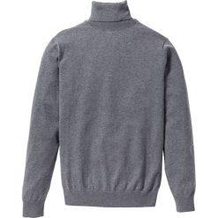 Sweter z golfem Regular Fit bonprix szary melanż. Szare golfy męskie marki bonprix, m, melanż, z dzianiny. Za 79,99 zł.