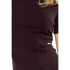 Sukienka Izabella - elegancka - CZARNA. Czarne sukienki balowe numoco, s, z klasycznym kołnierzykiem. Za 88,56 zł.