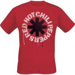 T-shirty męskie: Red Hot Chili Peppers Stencil Asterisk T-Shirt czerwony