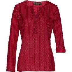 Tunika bonprix czerwono-czarny z nadrukiem. Czerwone tuniki damskie z długim rękawem bonprix, z nadrukiem. Za 49,99 zł.