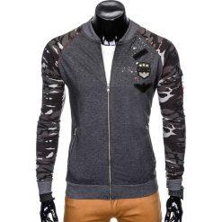 Bluzy męskie: BLUZA MĘSKA ROZPINANA B799 - GRAFITOWA