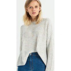 Sweter oversize - Wielobarwn. Szare swetry oversize damskie Sinsay, l. Za 59,99 zł.