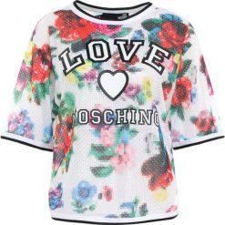 Odzież damska: Love Moschino Tshirt z nadrukiem white