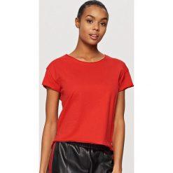 T-shirty męskie: Gładki t-shirt – Czerwony