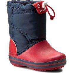 Buty zimowe chłopięce: Śniegowce CROCS – Crocband Lodgepoint Boot K 203509 Navy/Red