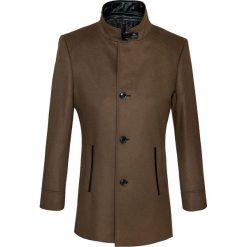 Płaszcz FLORIANO 14-36WK. Brązowe płaszcze na zamek męskie marki Cropp, na zimę, l, sportowe. Za 899,00 zł.