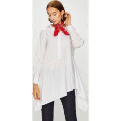 Answear - Koszula. Szare koszule damskie marki ANSWEAR, s, z bawełny, casualowe, z asymetrycznym kołnierzem, z długim rękawem. W wyprzedaży za 99,90 zł.