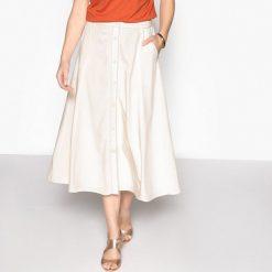 Długie spódnice: Długa rozkloszowana spódnica z mikrofibry