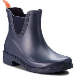 Kalosze COQUI - Welly 8355  Navy. Niebieskie buty zimowe damskie marki Coqui, z materiału. W wyprzedaży za 109,00 zł.