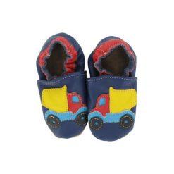 BaBice Buciki do raczkowania Ciężarówka kolor niebieski. Niebieskie buciki niemowlęce marki BABICE, ze skóry. Za 69,00 zł.