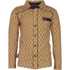 """Koszula """"System"""" w kolorze błękitno-antracytowo-żółtym. Niebieskie koszule chłopięce 4FunkyFlavours Kids, z klasycznym kołnierzykiem. W wyprzedaży za 102,95 zł."""
