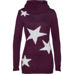 Sweter bonprix czarny bez - srebrny. Fioletowe golfy damskie marki bonprix. Za 49,99 zł.