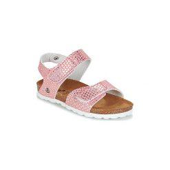 Sandały Dziecko  Citrouille et Compagnie  BELLI JOE. Czerwone sandały dziewczęce marki Born2be, z materiału, z otwartym noskiem, na zamek. Za 87,20 zł.