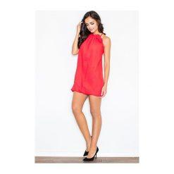 Sukienka Fifi M065 Czerwona. Białe sukienki dzianinowe marki NIFE, eleganckie. Za 99,00 zł.