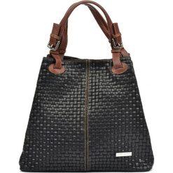 Torebka w kolorze czarnym - (S)30 x (W)36 x (G)17 cm. Czarne shopper bag damskie Bestsellers bags, w paski, z materiału, na ramię. W wyprzedaży za 289,95 zł.