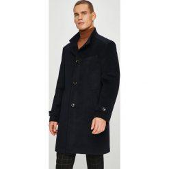 Pierre Cardin - Płaszcz. Czarne płaszcze na zamek męskie marki Pierre Cardin, z materiału. W wyprzedaży za 869,90 zł.