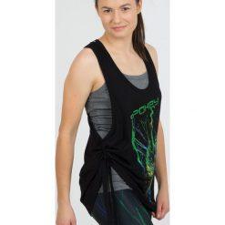 Bluzki asymetryczne: Spokey Koszulka fitness Freedi czarna r. uniwersalny (839540)