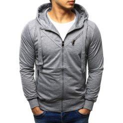 Bluzy męskie: Bluza męska rozpinana z kapturem szara (bx2265)
