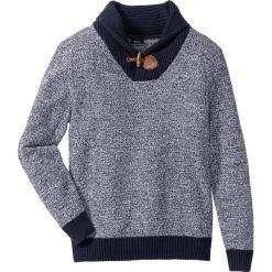 Swetry klasyczne męskie: Sweter z szalowym kołnierzem Regular Fit bonprix ciemnoniebieski