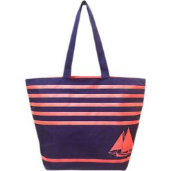 """Torba plażowa """"Bahia"""" w kolorze fioletowo-pomarańczowym - 35 x 58 x 23 cm. Brązowe torby plażowe Le Comptoir de la Plage, z tworzywa sztucznego. W wyprzedaży za 65,95 zł."""