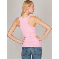 Bluzka basic bokserka różowa. Czerwone bluzki asymetryczne Yups, m, z bawełny, młodzieżowe. Za 19,99 zł.