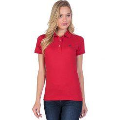 Bluzki damskie: Koszulka polo w kolorze czerwonym