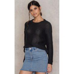 Swetry klasyczne damskie: Rut&Circle Sweter z głębokim dekoltem na plecach – Black