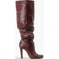 Kozaki bordowe. Czerwone buty zimowe damskie Badura. Za 499,99 zł.