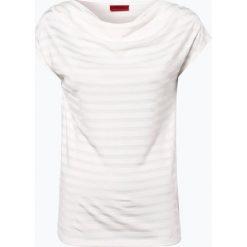 HUGO - T-shirt damski – Navani, beżowy. Czarne t-shirty damskie marki bonprix, w paski, z dekoltem woda. Za 279,95 zł.
