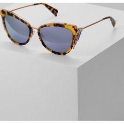 Marc Jacobs Okulary przeciwsłoneczne glitter havanna. Brązowe okulary przeciwsłoneczne damskie aviatory Marc Jacobs. W wyprzedaży za 876,85 zł.