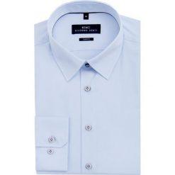 Koszula SIMONE SLIM KDNS000003. Niebieskie koszule męskie na spinki Giacomo Conti, m, z bawełny, z klasycznym kołnierzykiem. Za 199,00 zł.