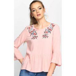 Bluzki asymetryczne: Różowa Bluzka Airy Flower