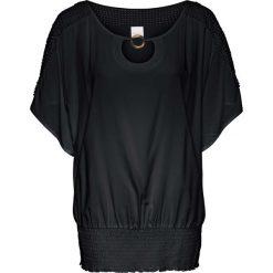 Tunika z koronką bonprix czarny. Czarne tuniki damskie bonprix, w koronkowe wzory, z koronki. Za 99,99 zł.
