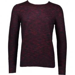 Sweter w kolorze czerwono-granatowym. Niebieskie swetry klasyczne męskie marki GALVANNI, l, z okrągłym kołnierzem. W wyprzedaży za 99,95 zł.