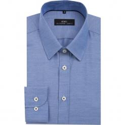 Koszula MARCO KDNS000049. Niebieskie koszule męskie na spinki Giacomo Conti, m, z bawełny, z klasycznym kołnierzykiem, z długim rękawem. Za 149,00 zł.