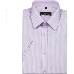 Koszula ALVARO 11-05-19. Fioletowe koszule męskie na spinki Giacomo Conti, na lato, m, w paski, z bawełny, z klasycznym kołnierzykiem, z krótkim rękawem. Za 99,00 zł.