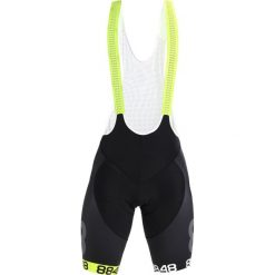 Kalesony męskie: 8848 Altitude FLOW BIB BIKE SHORTS Legginsy black/neon yellow