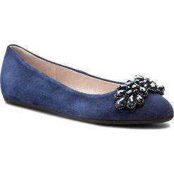 Baleriny GINO ROSSI - Marisa DAH376-282-0020-5700-0 59. Niebieskie baleriny damskie zamszowe marki Gino Rossi, na płaskiej podeszwie. W wyprzedaży za 239,00 zł.