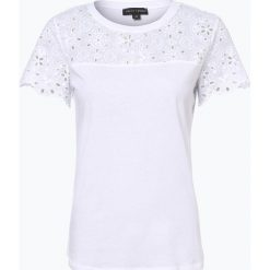Franco Callegari - T-shirt damski, czarny. Czarne t-shirty damskie Franco Callegari, w koronkowe wzory, z koronki. Za 129,95 zł.