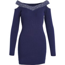 Granatowa Sukienka Summer Of Love. Niebieskie sukienki marki Born2be, l, z dzianiny. Za 69,99 zł.