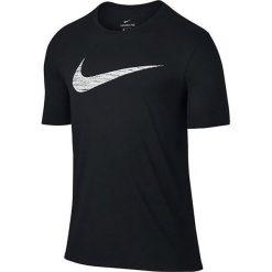 Nike Koszulka męska Dry Swoosh Training T-Shirt czarny r. L. Białe koszulki sportowe męskie marki Adidas, l, z jersey, do piłki nożnej. Za 95,01 zł.