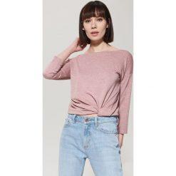 Bluzki asymetryczne: Gładka bluzka - Różowy