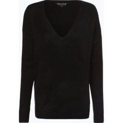 Review - Sweter damski, czarny. Szare swetry klasyczne damskie marki Review, l, z tkaniny, z okrągłym kołnierzem. Za 129,95 zł.