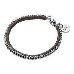 Bransoletki damskie: Bransoletka w kolorze srebrnym