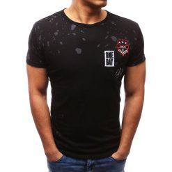 T-shirty męskie z nadrukiem: T-shirt męski z nadrukiem czarny (rx2707)