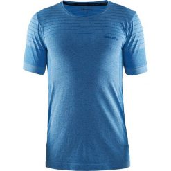 Męski T-shirt funkcyjny Craft Cool Comfort Blue. Niebieskie t-shirty męskie Astratex, m, w paski, z materiału, z dekoltem na plecach. Za 137,99 zł.