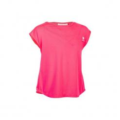 T-Shirt 500 Jr róż. Czerwone t-shirty damskie marki ARTENGO, m, z elastanu. W wyprzedaży za 19,99 zł.