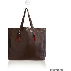 Vege Torba XL DARK CHERRY CHOCO. Czerwone shopper bag damskie Pakamera, ze skóry, duże. Za 189,00 zł.